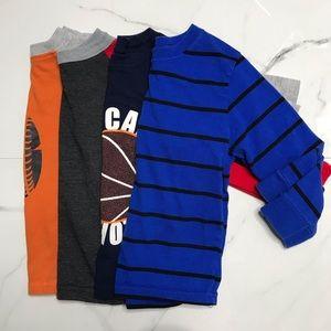 Bundle toddler boy long sleeve tops